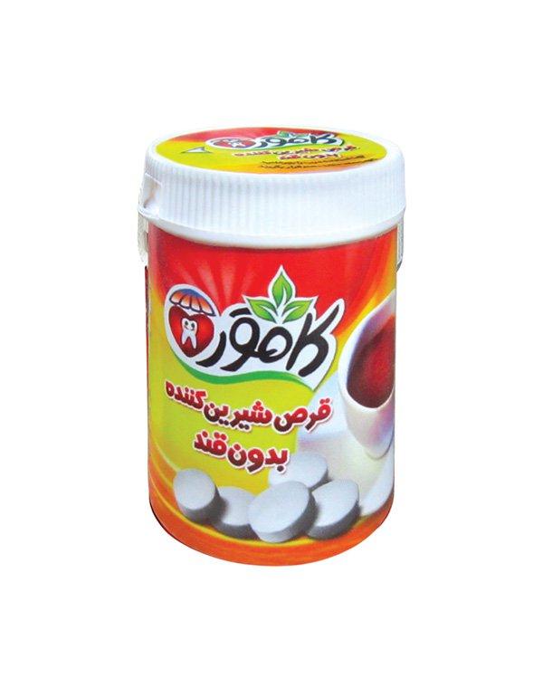 قرص شیرین کننده رژیمی استوانه ای کامور 250 عددی