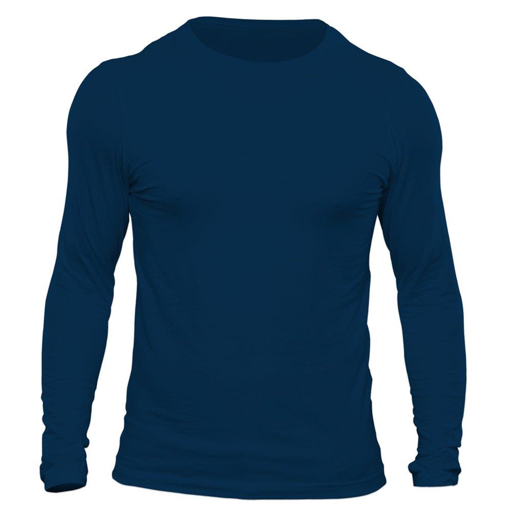 تیشرت آستین بلند مردانه سورمه ای