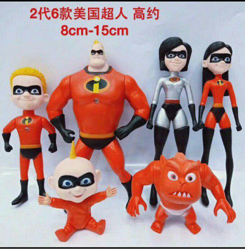 اکشن فیگور سری شگفت انگیزان مدل Incredibles بسته 6 عددی