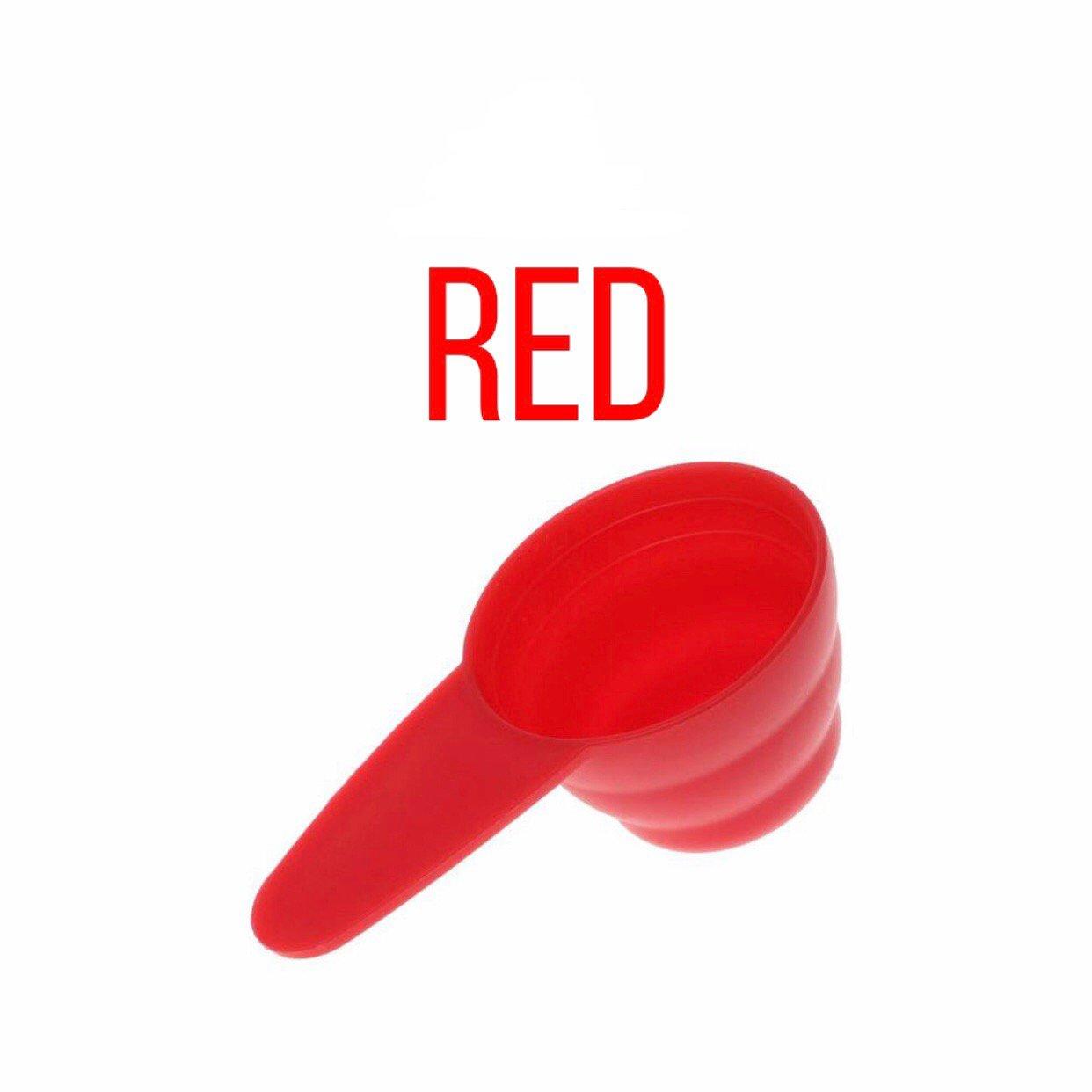 پیمانه قهوه رنگ قرمز