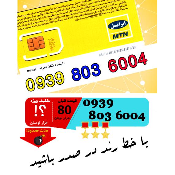 سیم کارت اعتباری ایرانسل 09398036004