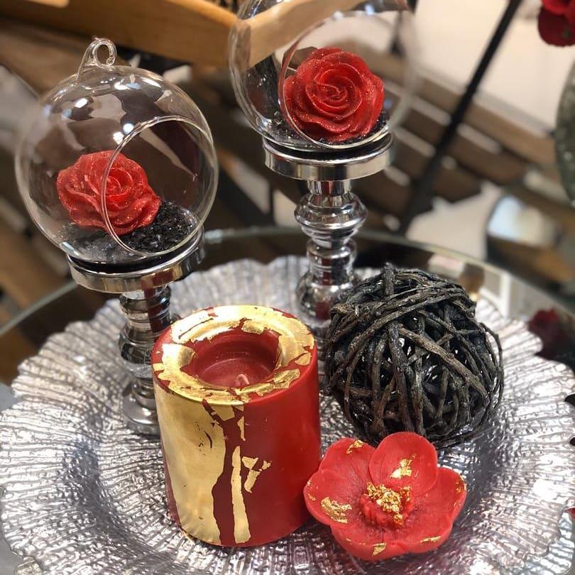 شمع استوانه وارمرخور قرمز
