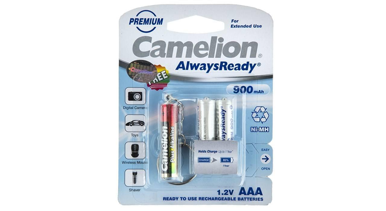 باتری نیم قلمی قابل شارژ کملیون مدل Always Ready بسته 2 عددی بهمراه چراغ قوه LED
