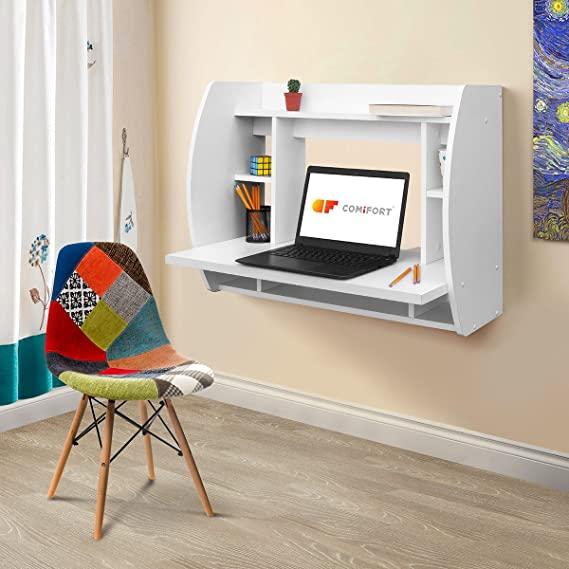 میز تحریر کامپیوتر و کتابخانه دیواری مانیا مدل MNY_0065