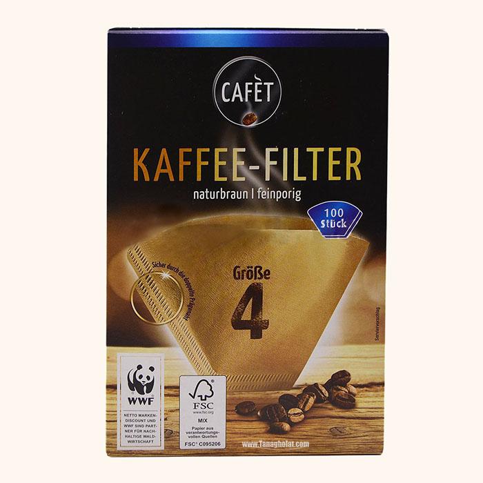 فیلتر کاغذی دستگاه قهوه ساز 100 عددی