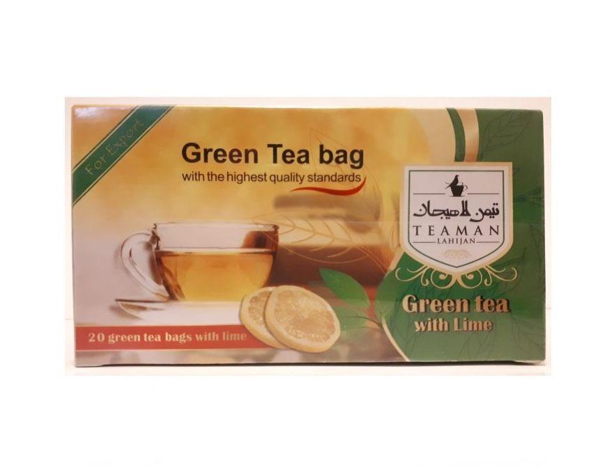 چای سبز کیسه ای تیمن لاهیجان بسته 20 عددی