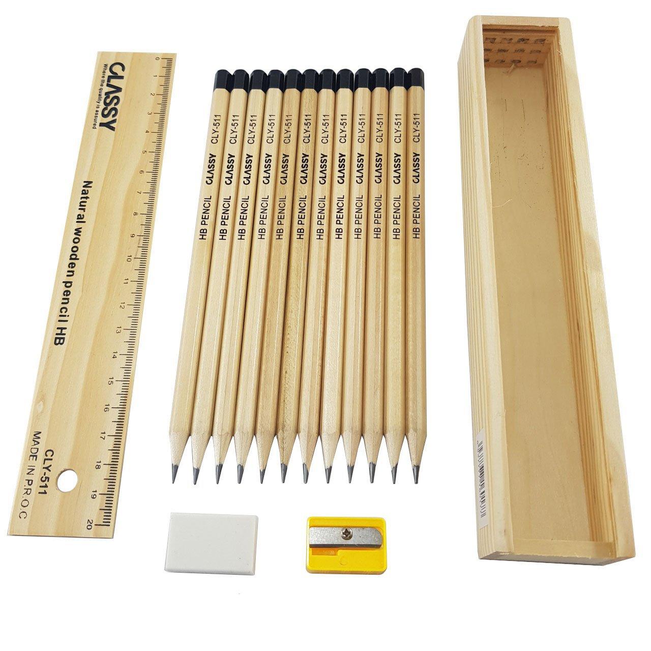 مداد کلاسی مدل CLY-511 مجموعه 12 عددی
