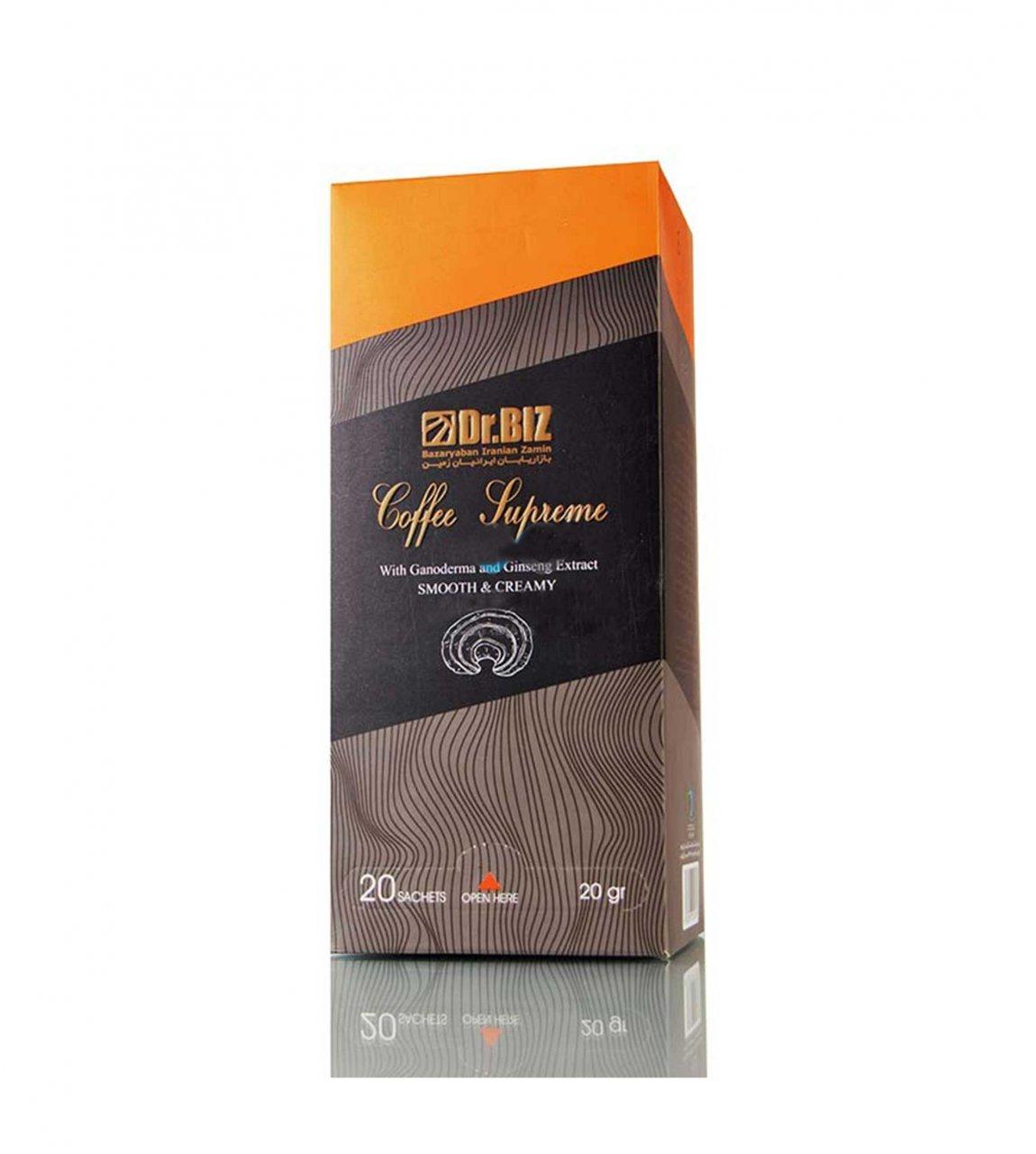 قهوه گانودرما سوپریم دکتر بیز 20 عددی + ارسال رایگان
