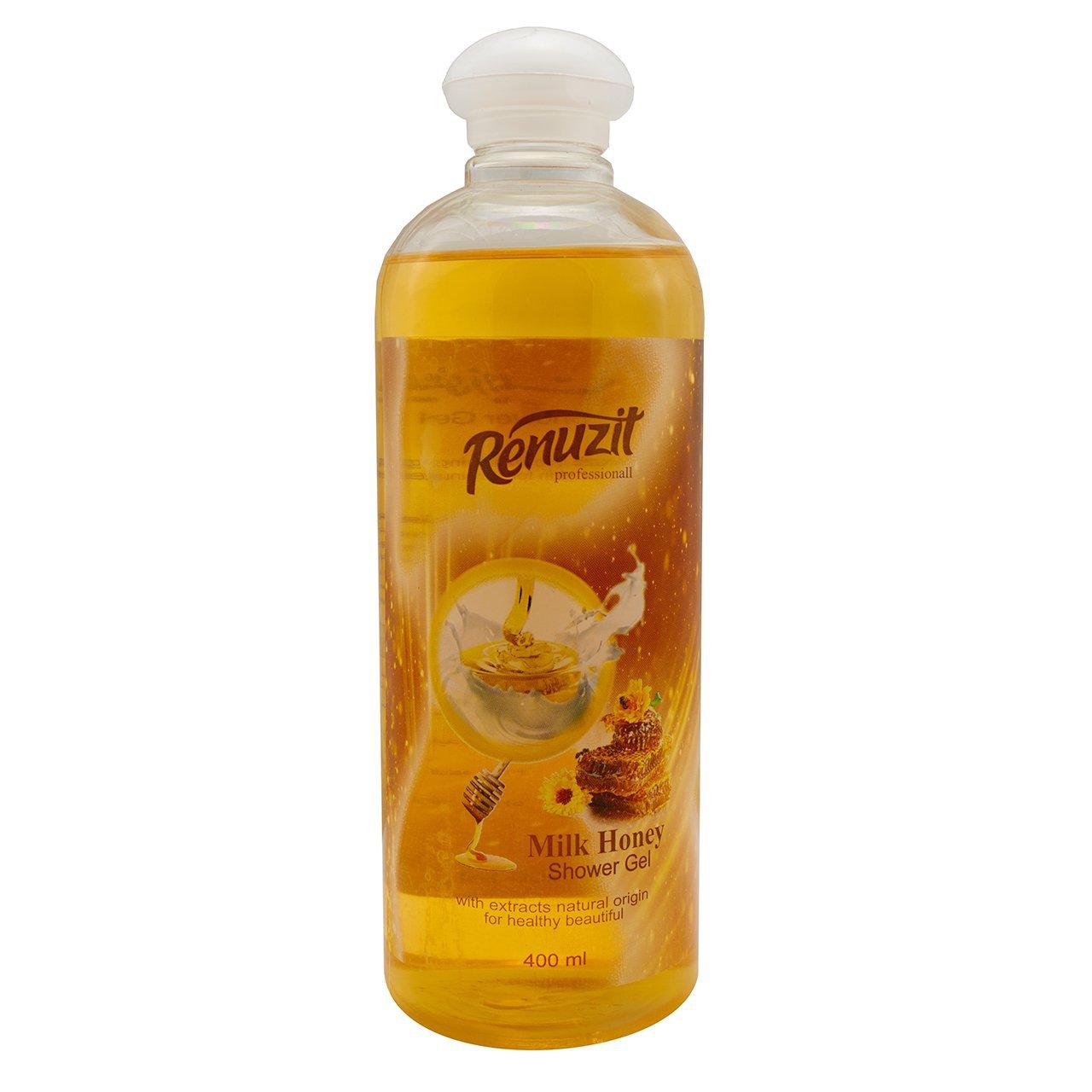 ژل شستشو رینو زیت مدل Milk Honey حجم 400 میلی لیتر