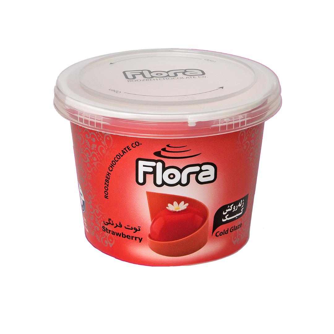 ژله تزیین کیک توت فرنگی فلورا 300 گرمی