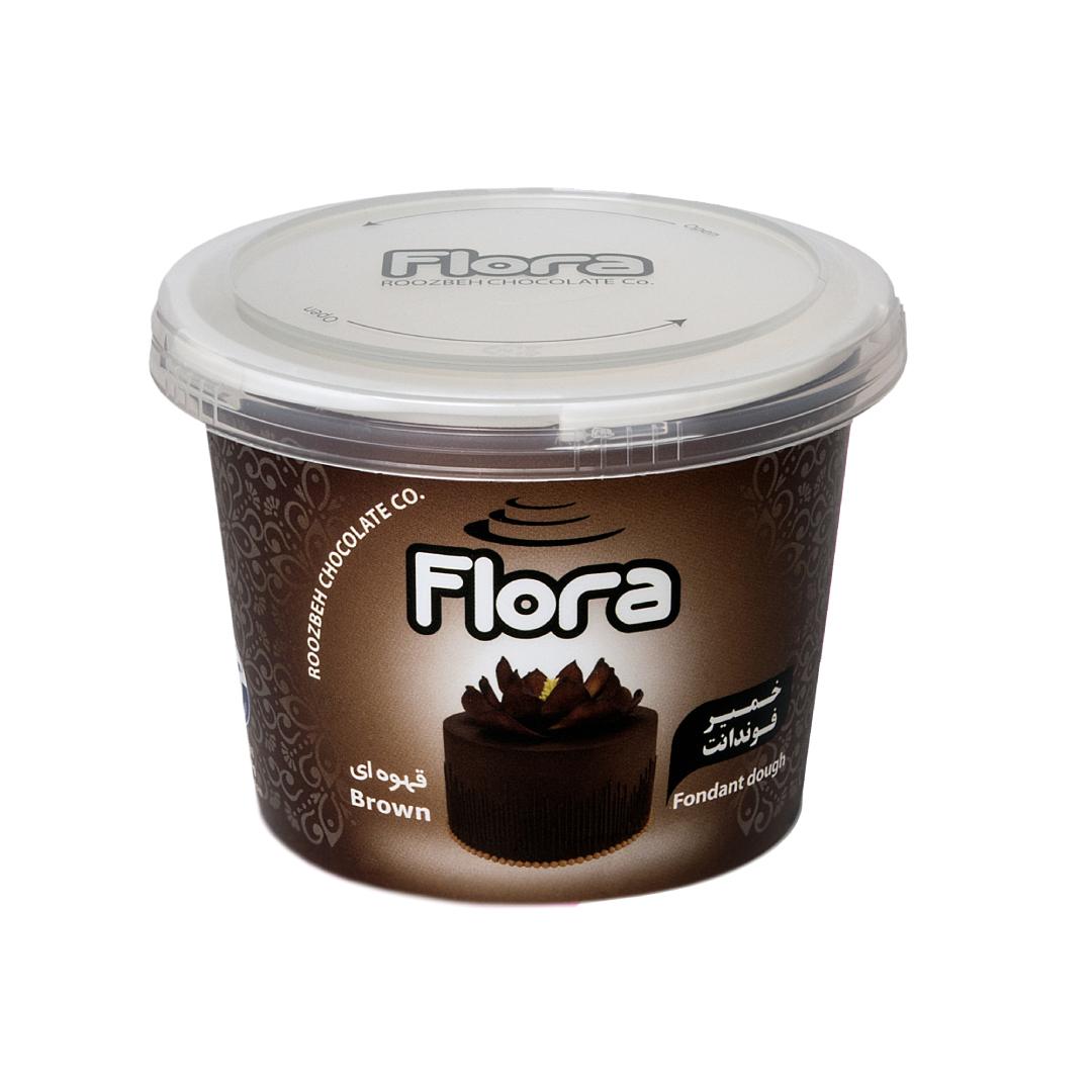خمیر فوندانت قهوه ای فلورا 300 گرمی