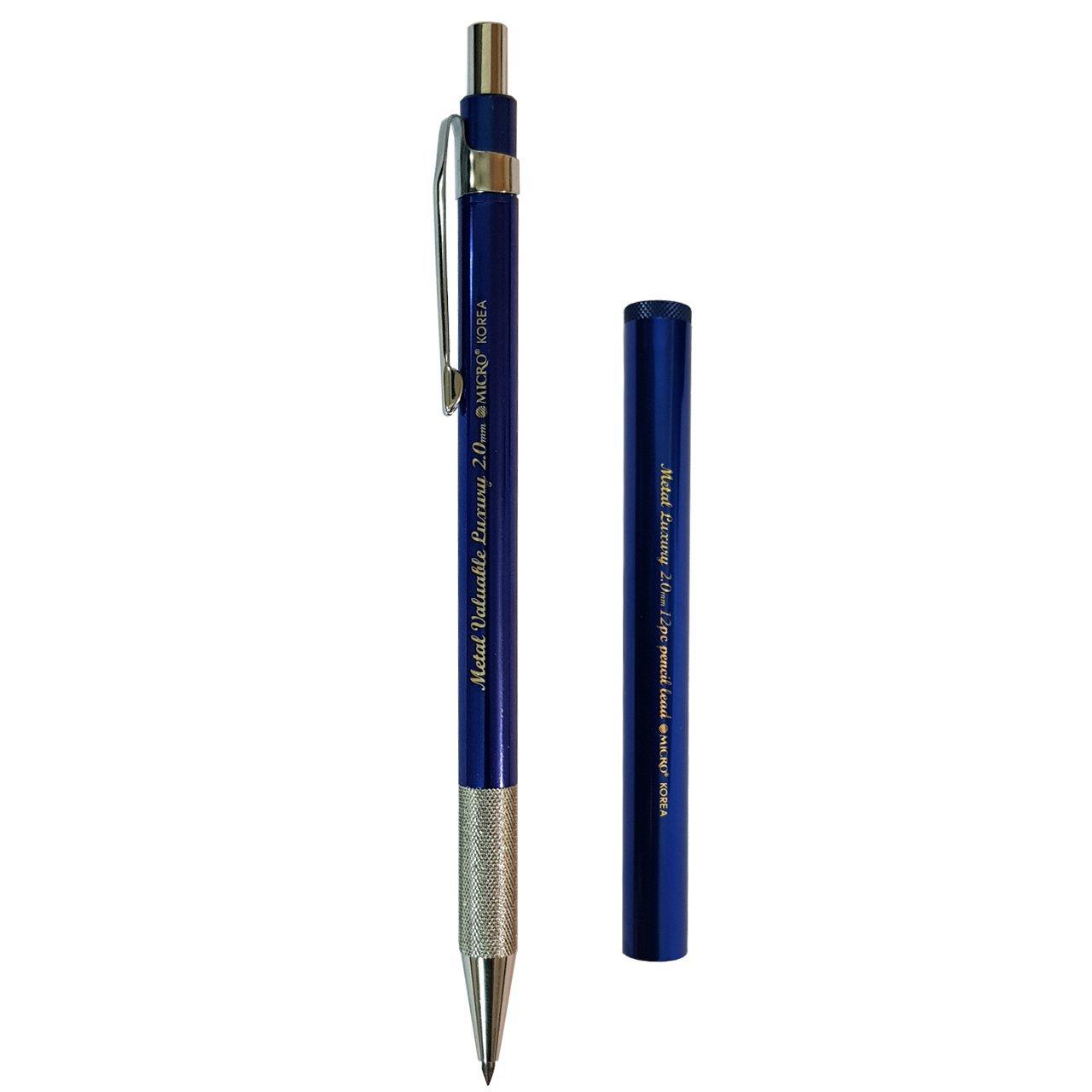 مداد نوکی 2 میلی متری میکرو مدل Metal به همراه یک بسته نوک 12 عددی