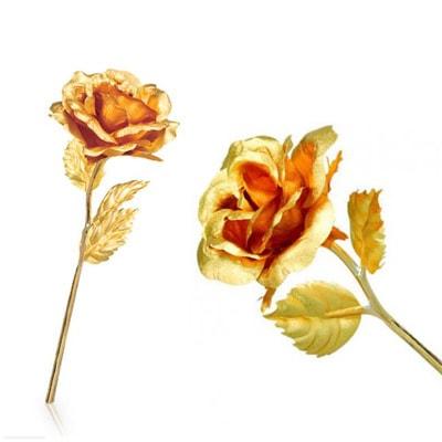 گل رُز با روکش طلای 24 عیار Rose Gold