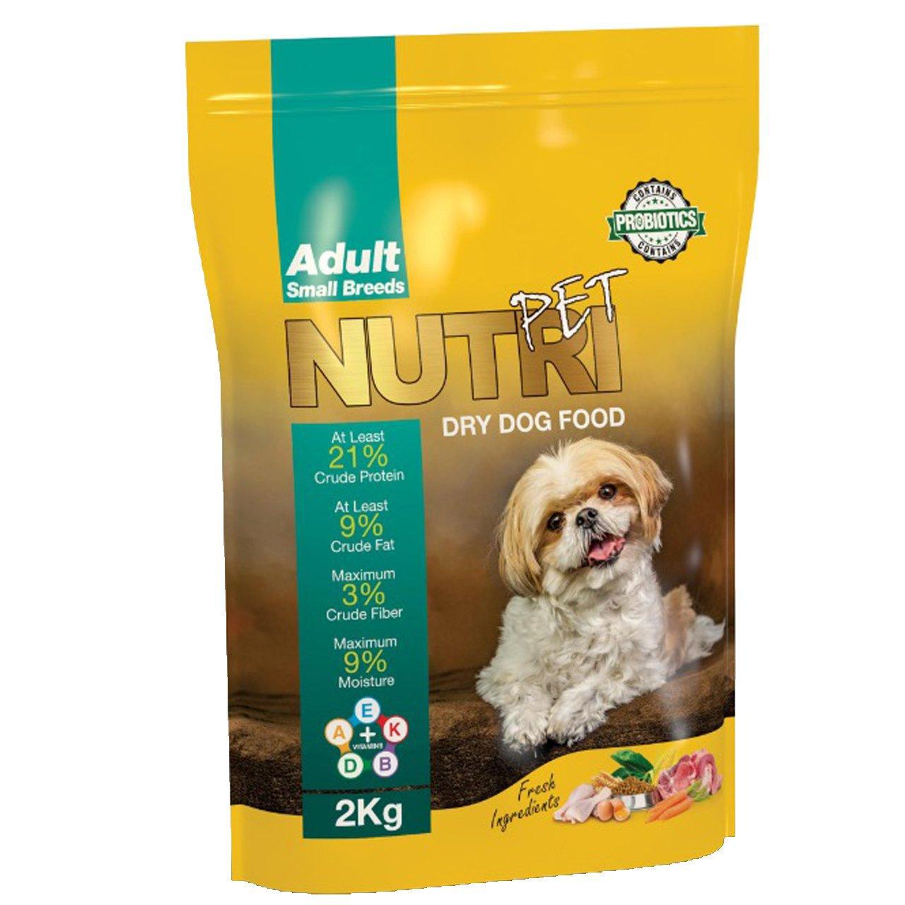 غذای خشک سگ نوتری پت کد 001 وزن 2 کیلوگرم