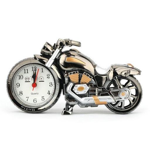 ساعت دکوری آلارم دار طرح موتورسیکلت