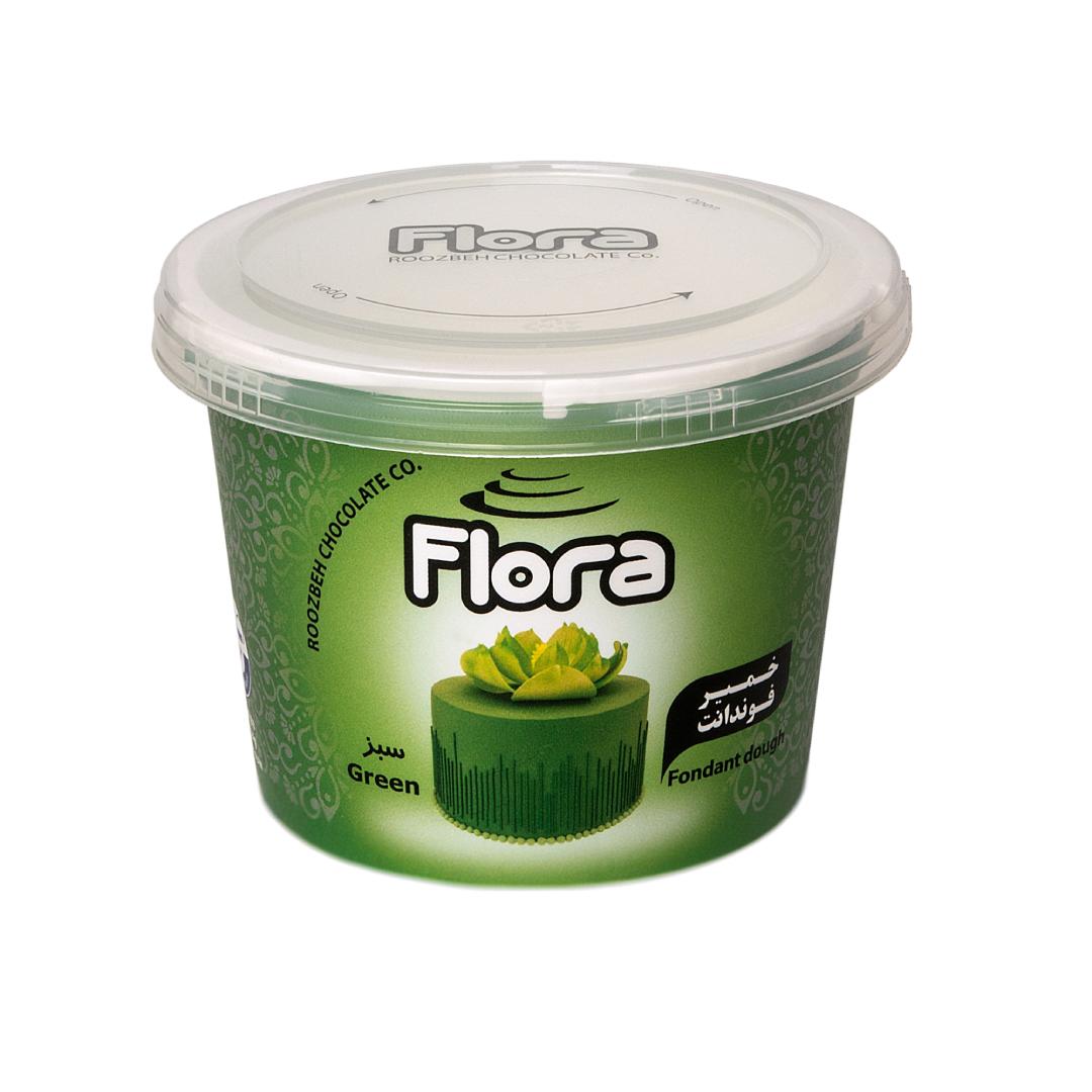 خمیر فوندانت سبز تیره فلورا 300 گرمی