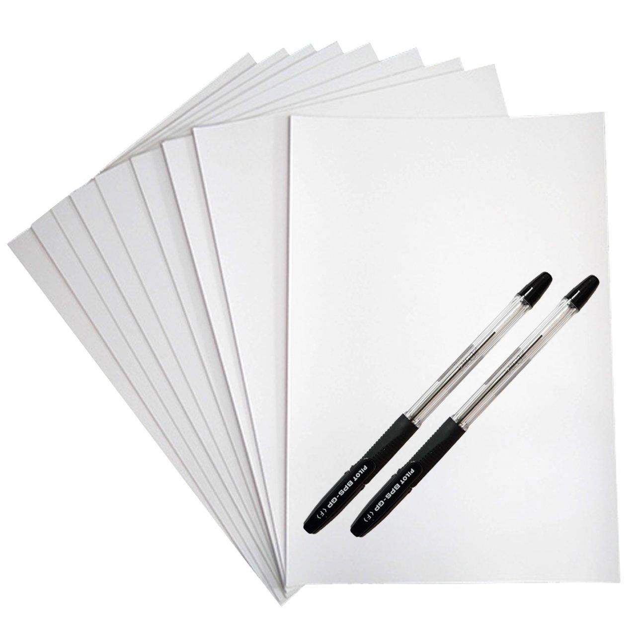 کاغذ A5 کد 505 بسته 50 عددی به همراه خودکار پایلوت مدل BPS-GP  بسته دو عددی