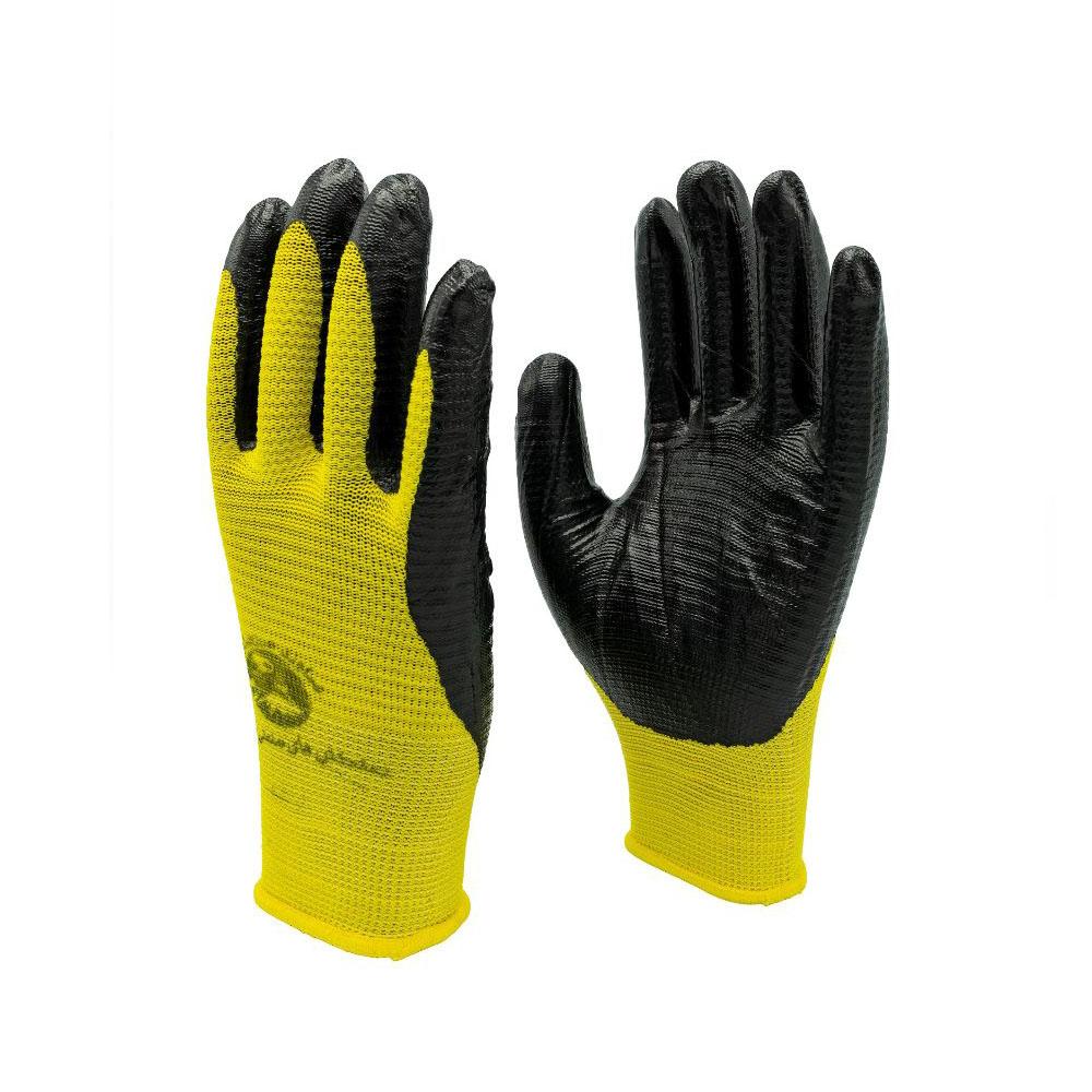 دستکش ایمنی دماوند صنعت ارس مدل S101 بسته 10 عددی