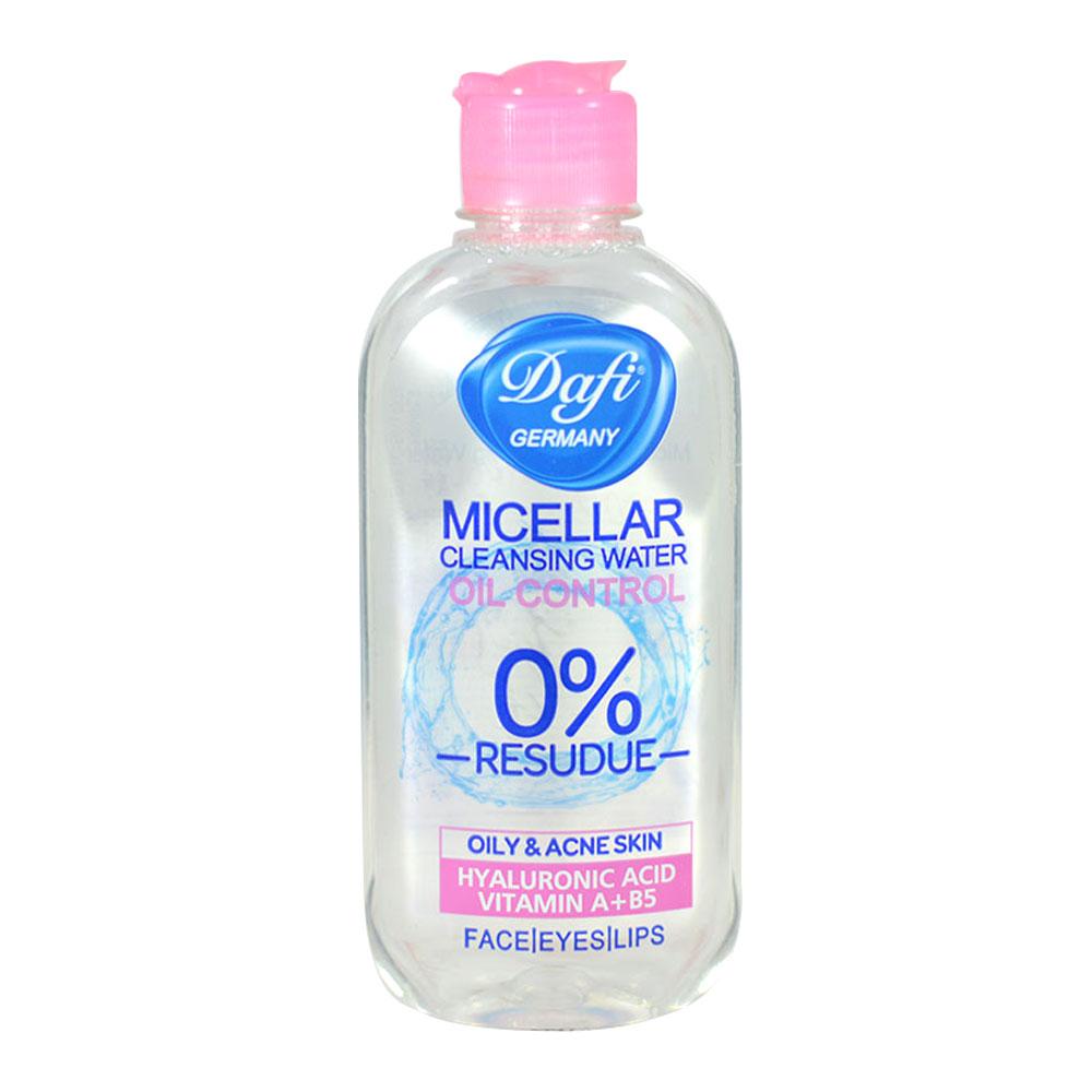 محلول پاک کننده آرایش دافی مناسب پوست های چرب حجم 150 میل