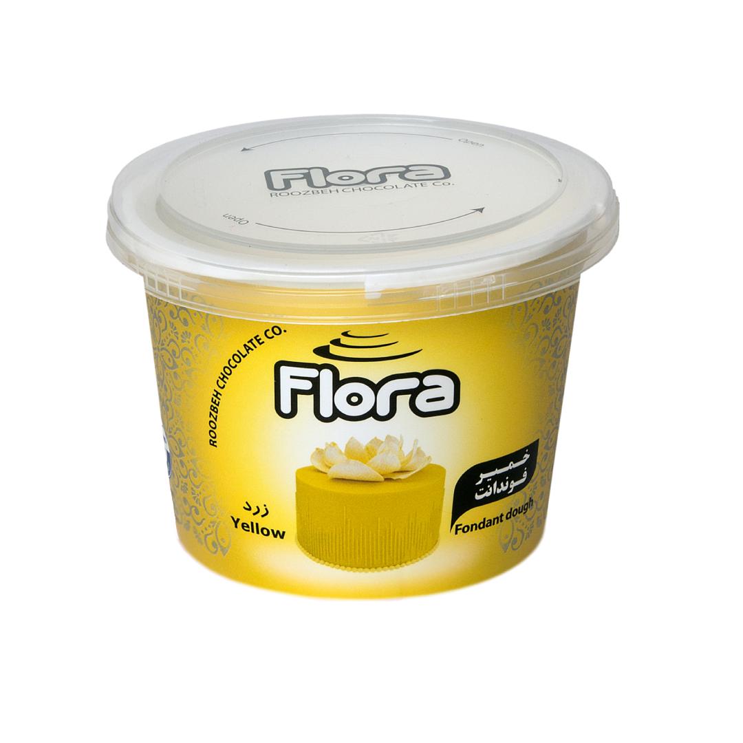 خمیر فوندانت زرد روشن فلورا 300 گرمی