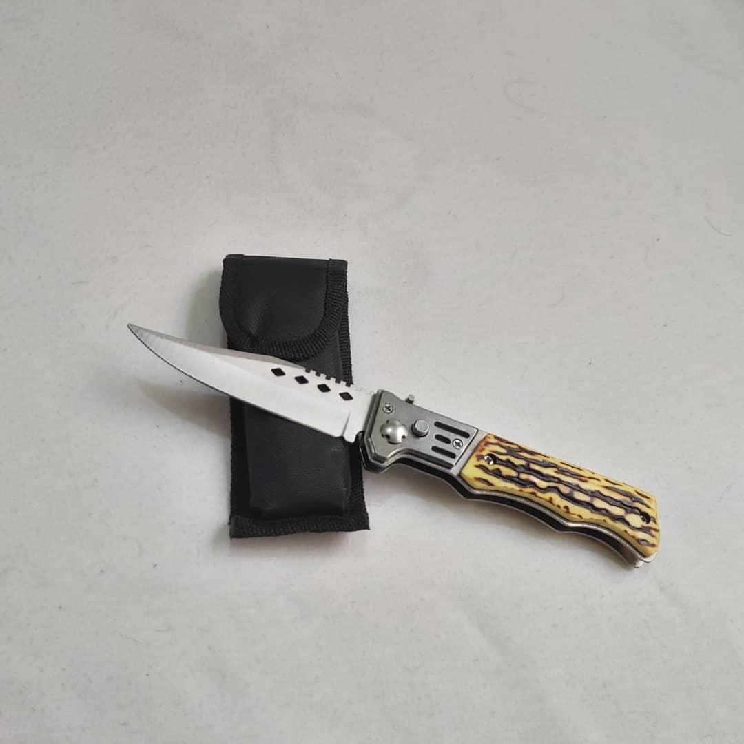 چاقوی سفری مدل دسته استخوانی