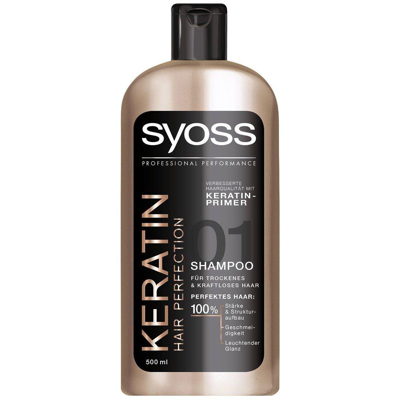 شامپو ترمیم کننده سایوس مدل Keratin Hair Protection حجم 500 میلی لیتر