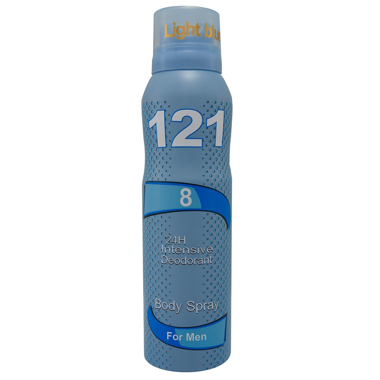 اسپری خوشبو کننده بدن مردانه 121 مدل Light Blue حجم 150 میلی لیتر