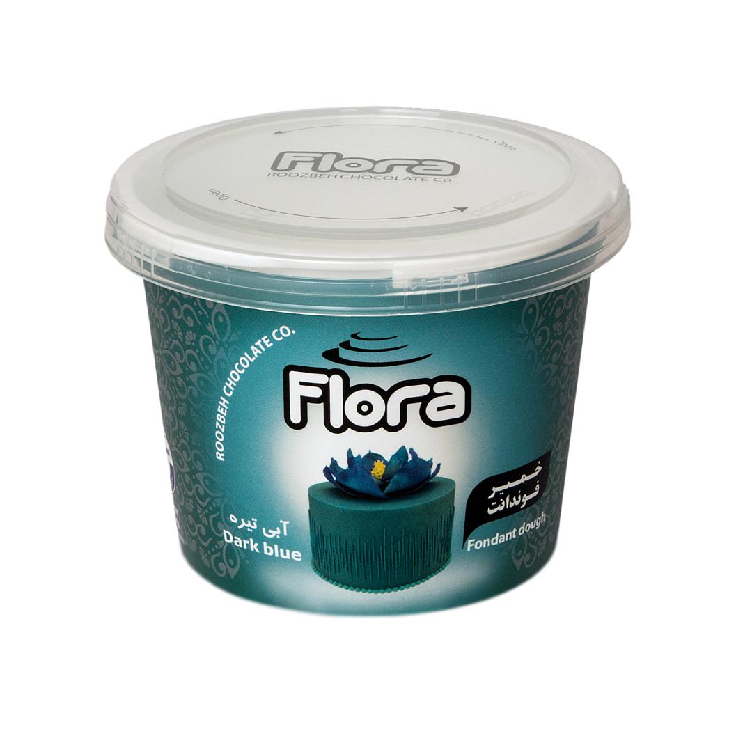 خمیر فوندانت آبی تیره فلورا 300 گرمی