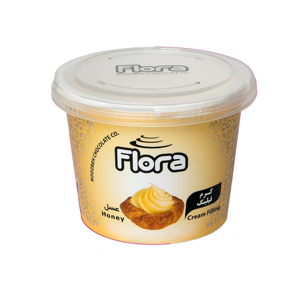 کرم فیلینگ عسلی فلورا 300 گرمی