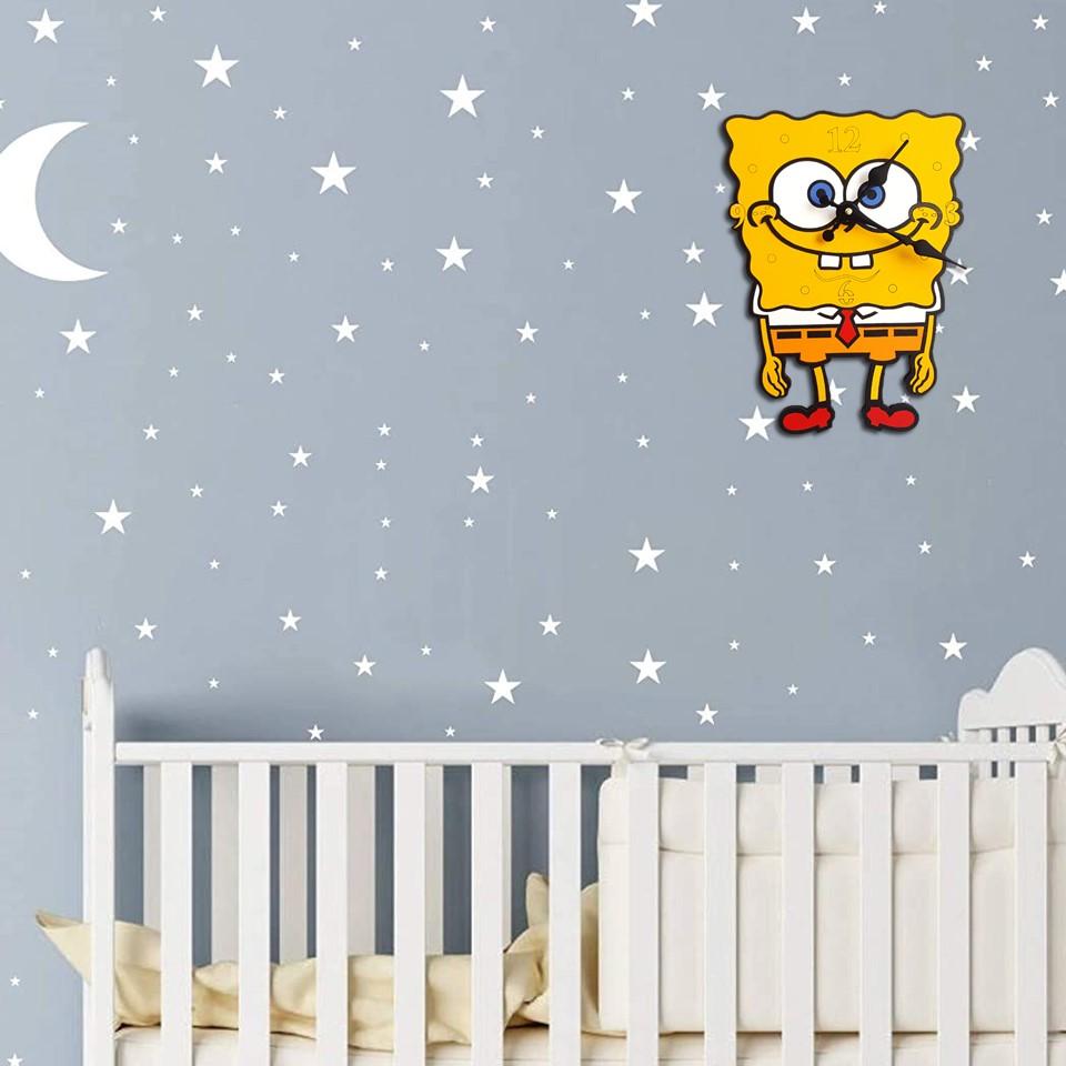 ساعت دیواری کودک مدل باب اسفنجی