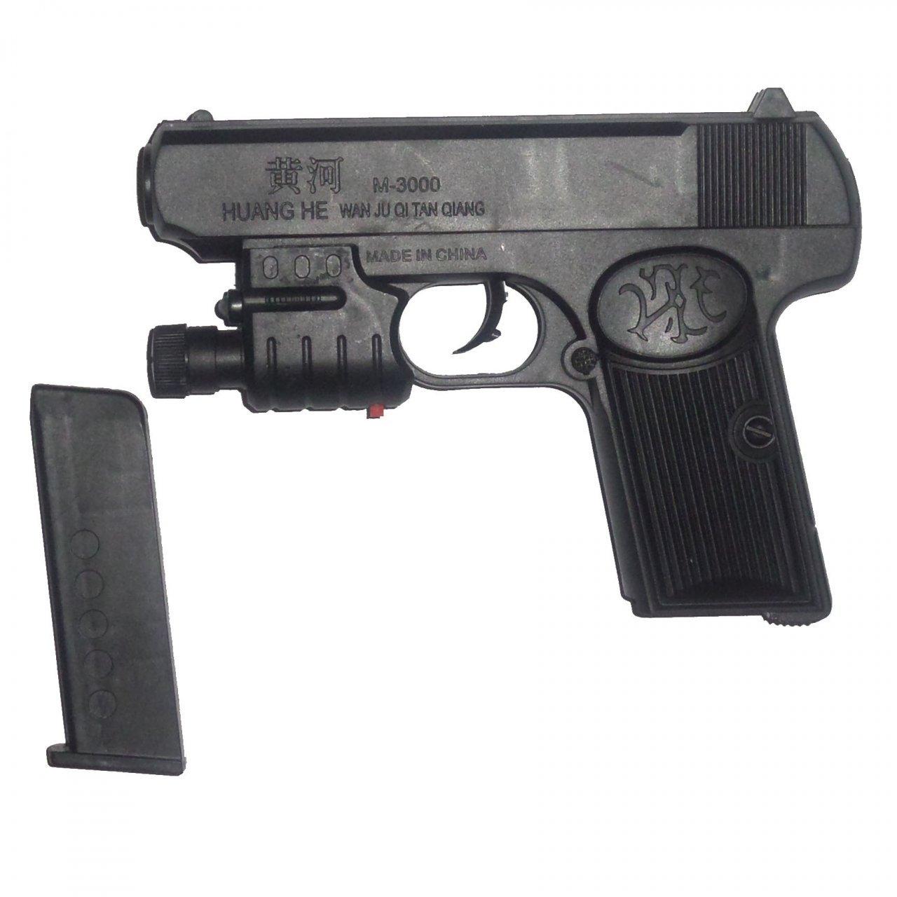 تفنگ اسباب بازی کد M-3000AF به همراه لیزر