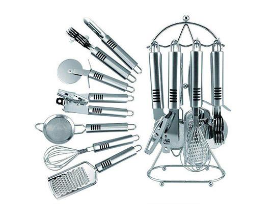سرویس 8 پارچه ابزار آشپزخانه استیل