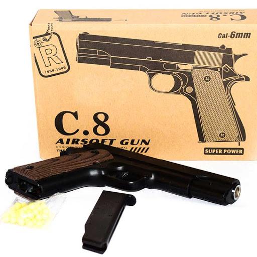 کلت فلزی اسباب بازی ساچمه ای مدل c8
