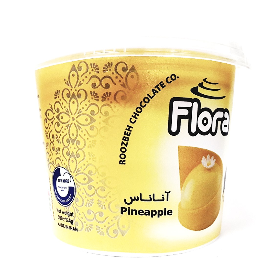 ژله تزیین کیک آناناسی فلورا 300 گرمی