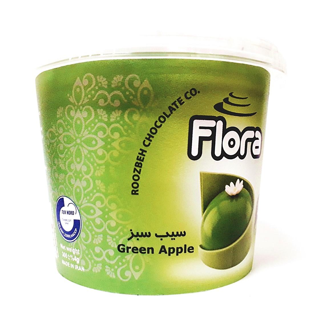 ژله تزیین کیک سیب سبز فلورا 300 گرمی