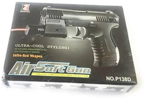 تفنگ اسباب بازی ساچمه ای مدل P138D به همراه لیزر