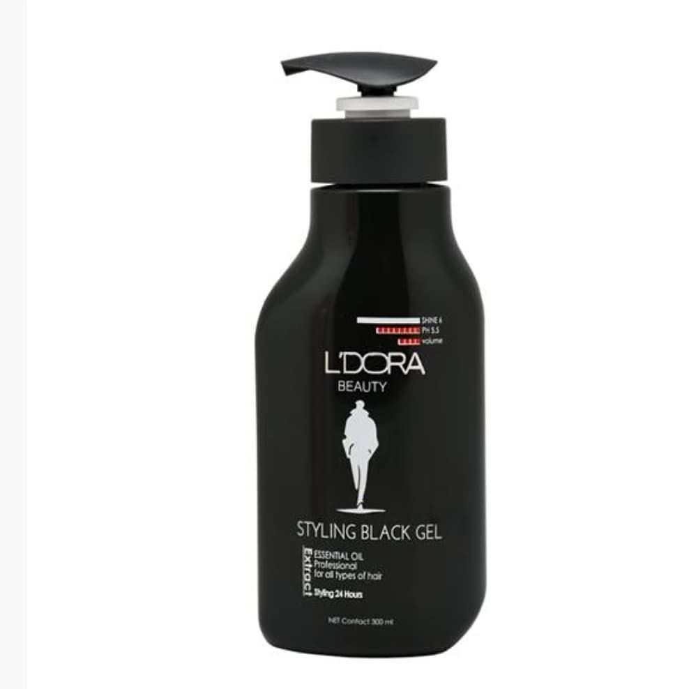 ژل حالت دهنده قوی موی سر کراتینه مردانه بلک لدورا 300 میلی لیتر