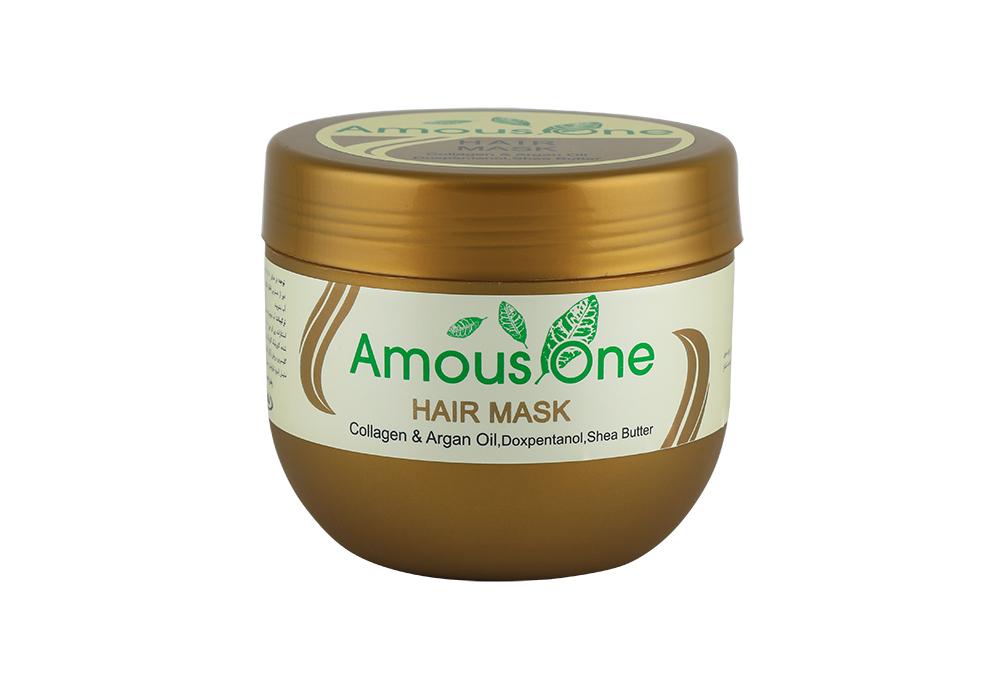 ماسک مو با آبکشی کلاژن و روغن آرگان آموس وان 500 میل