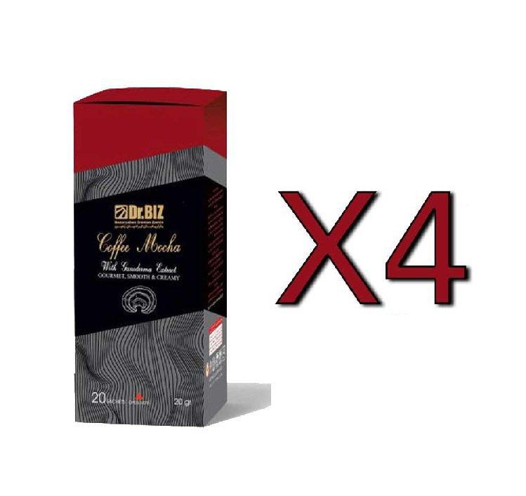قهوه فوری موکا با قارچ گانودرما دکتر بیز پک 4 عددی ارسال رایگان