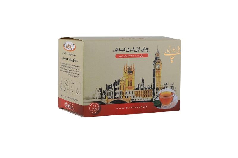 چای کیسه ای سیاه خارجی ارل گری بسته 20 عددی