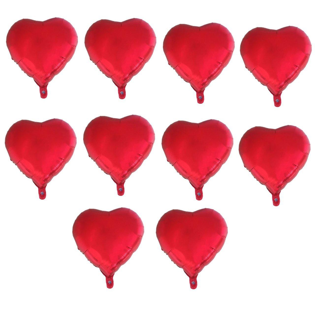 بادکنک فویلی طرح Heart کد 206 بسته 10 عددی