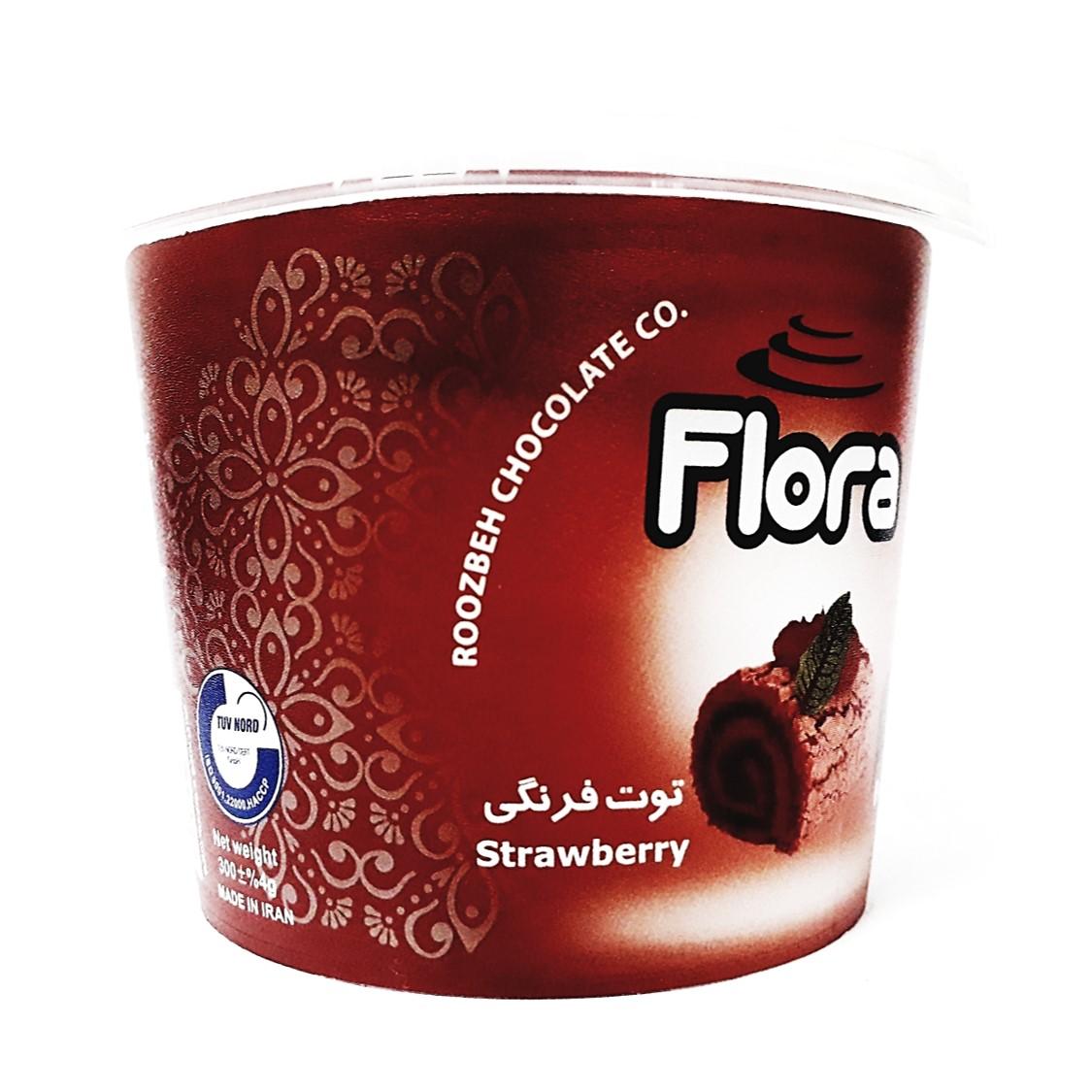 فروت فیلینگ توت فرنگی فلورا 300 گرم