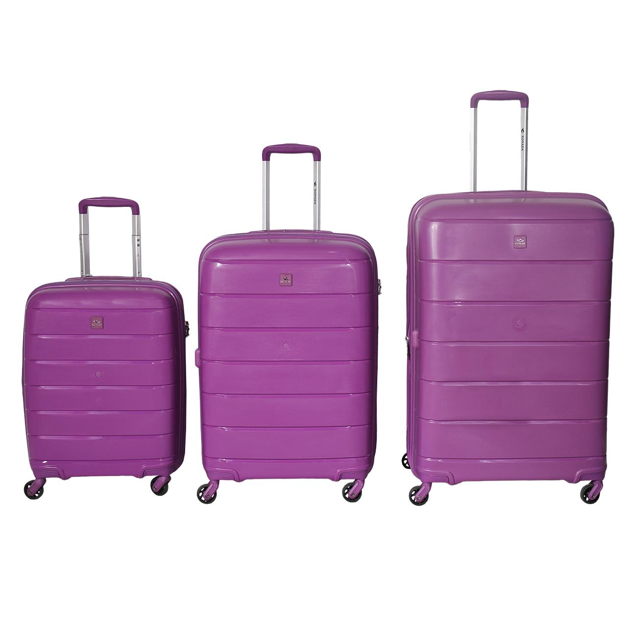چمدان سونادا مدل MOONILIGHT مجموعه سه عددی