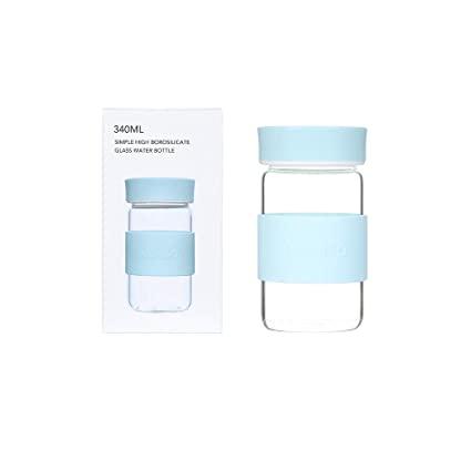 بطری آب شیشه ای مدل MINISO 340ml