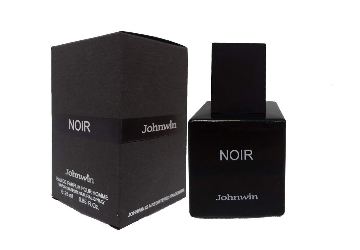 ادوپرفیوم مردانه جان وین Johnwin مدل Noir de Noir نویر دِ نویر 25 میل