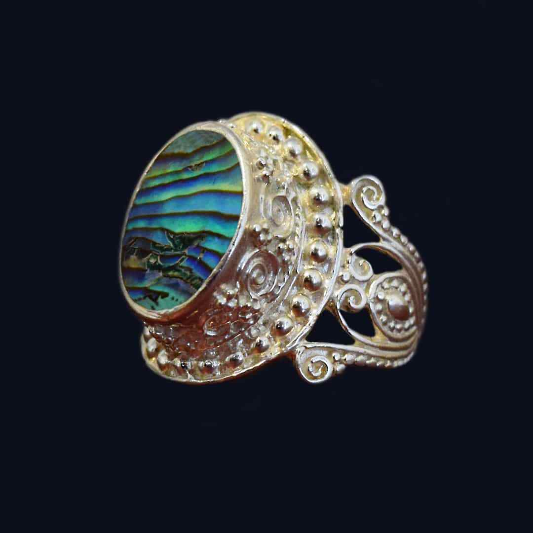 انگشتر نقره زنانه صدفی ماسیا کد 37
