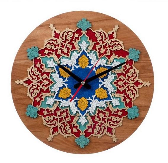 ساعت معرق سنتی تزیینی طرح کیتا ۳۵ سانتی