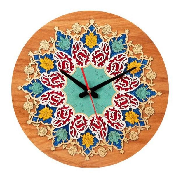 ساعت معرق سنتی ایرانی طرح بته جقه کیتا ۳۵ سانتی