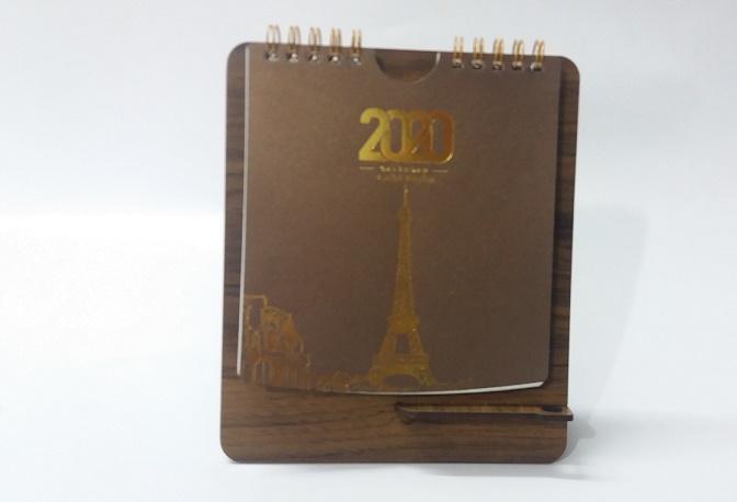 تقویم رومیزی و جاخودکاری طرح پاریس