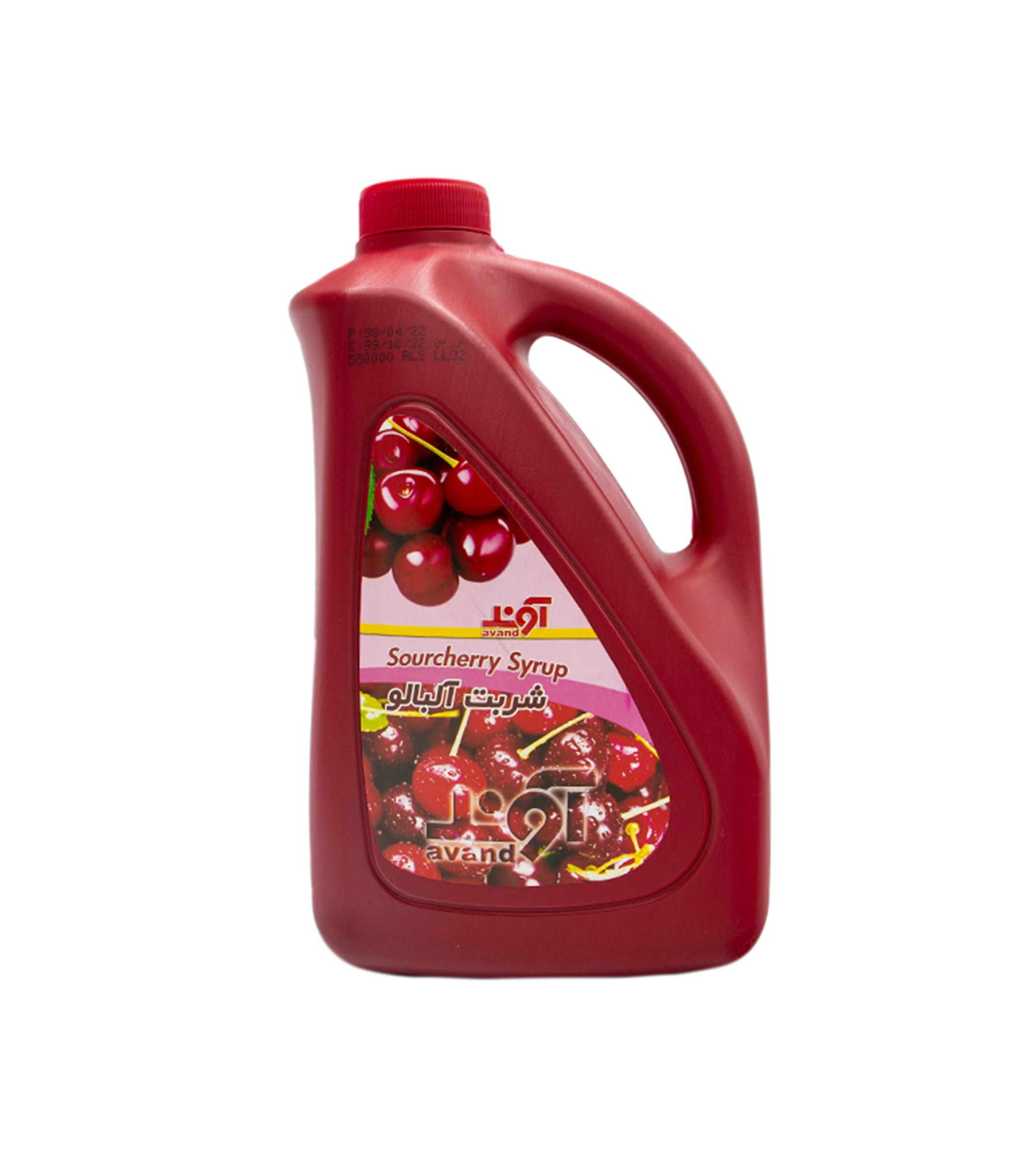 شربت آلبالو 1700 گرم پارس گلاب آوند